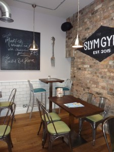 Complete Interior of Sitting Area of Restaurant
