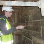 Specialist stone repair workshop, at Derry's Guildhall