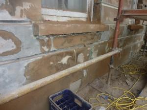 Stone Facade Prior to Repair
