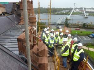 Workshop Group:  Guildhall – Slate Roofing Workshop