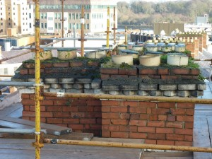 25 Waterloo Street: Chimney Stack Prior to Re-construction