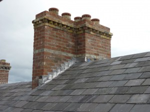 25 Waterloo Street: Chimney Stack Following to Re-construction