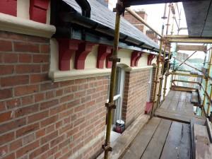 25 Waterloo Street: Repaired Eaves Detailing