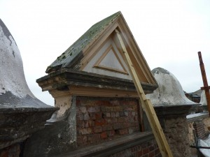 Parapet Detail Prior to Repair