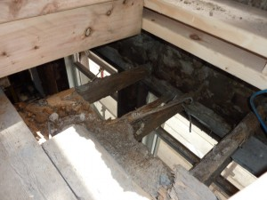 Rot to Joist Ends at Commencement of Works