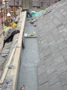 Reinstatement of Slate Roof & Lead Box Gutter