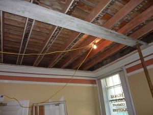 upgrading joists whilst still preserving original cornices