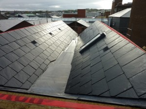 refacing the roof with natural slate