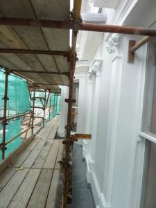 Exterior works in progress.