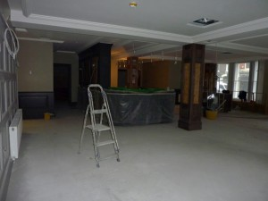Restaurant area prior to fitting out.